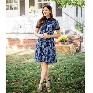 Draper James Collection Lace Shirt Dress Blue